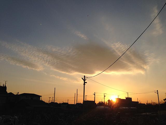 夕日の時だけお気に入りの場所。